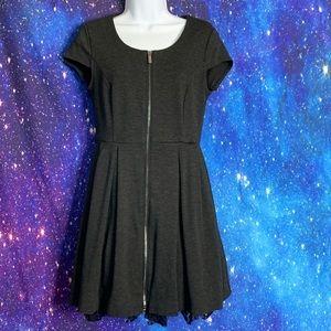 Kirna Zabete- Gray Dress w/ Puff Skirt size 6